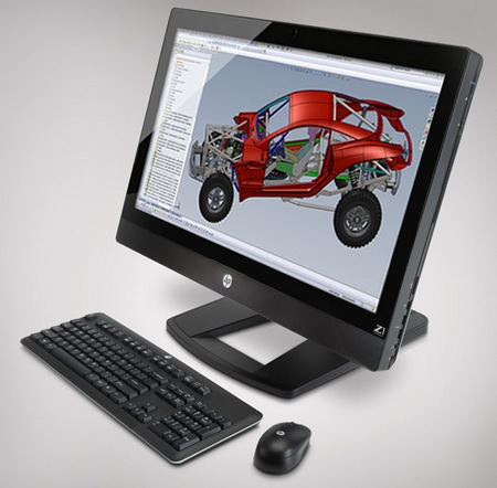 HP Z1 27-inch All-in-One Workstation angle