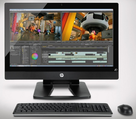 HP Z1 27-inch All-in-One Workstation front