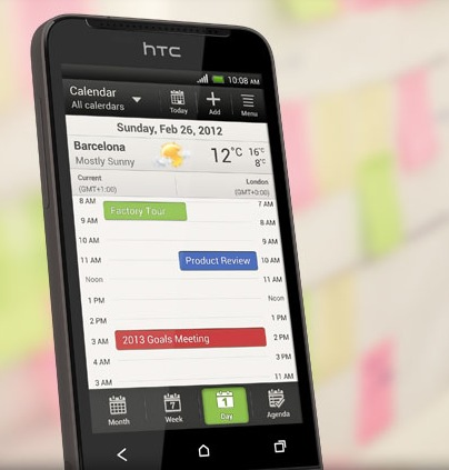 HTC One V Android Smartphone for the Masses calendar