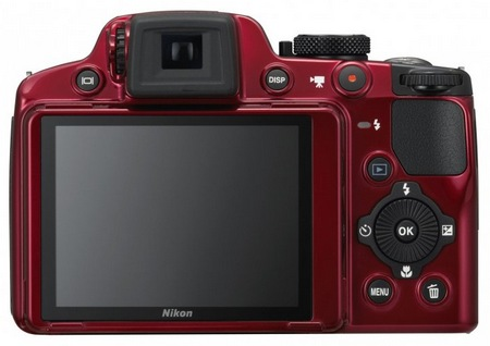 Nikon CoolPix P510 Camera does 42x Ultra Zoom red back