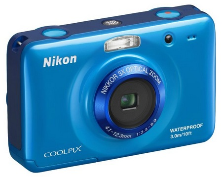 Nikon CoolPix S30 Rugged Digital Camera blue