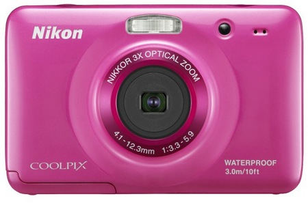 Nikon CoolPix S30 Rugged Digital Camera pink