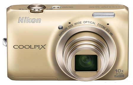 Nikon CoolPix S6300 Compact 10x Zoom Camera champagne gold