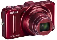 Nikon CoolPix S9300 Compact Long Zoom Camera with GPS red