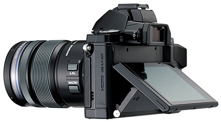Olympus OM-D E-M5 Micro Four Thirds Camera tilting display