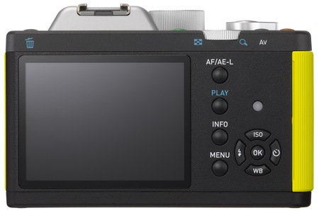 Pentax K-01 Interchangeable Lens Camera Designed by Marc Newson back