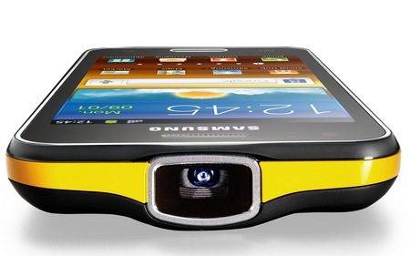 Samsung Galaxy Beam Dual-core Projector Smartphone projector lens