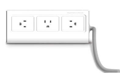 iLuv DreamTraveler iAD301 Portable Power Strip and Charger power outlet