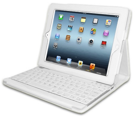 Adesso Compagno 3 WKB-1000DW Bluetooth Keyboard Case for new iPad