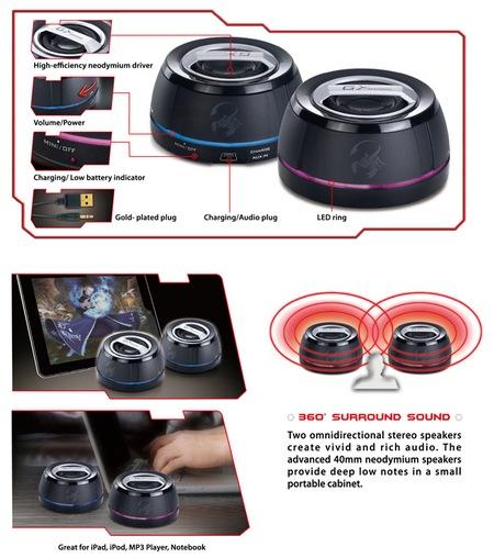 Genius GX-Gaming SP-i250G Portable Speakers details