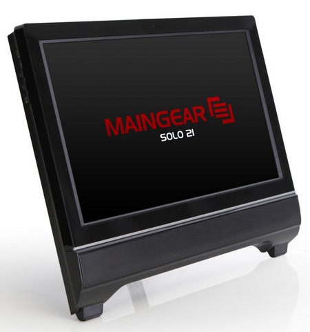 Maingear Solo 21 All-in-one PC angle