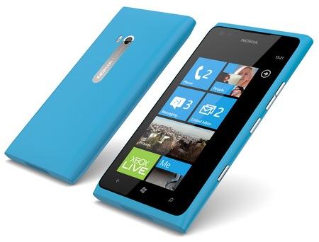 Nokia Lumia 900 Windows Phone cyan 1
