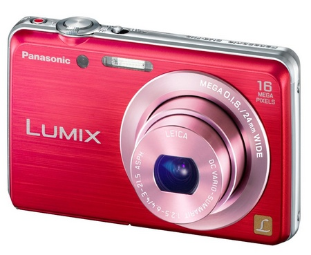 Panasonic LUMIX DMC-FH8 slim digital camera red