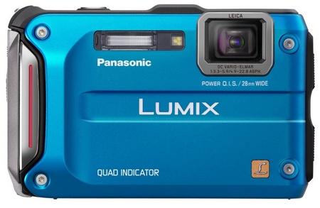 Panasonic LUMIX DMC-TS4 Rugged Camera with GPS blue