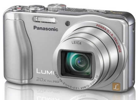 Panasonic LUMIX DMC-ZS20 20x Zoom Camera angle silver