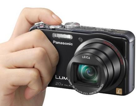 Panasonic LUMIX DMC-ZS20 20x Zoom Camera on hand