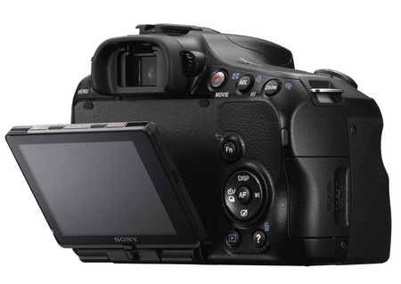 Sony Alpha A57 DSLR Camera with Translucent Mirror swivel display