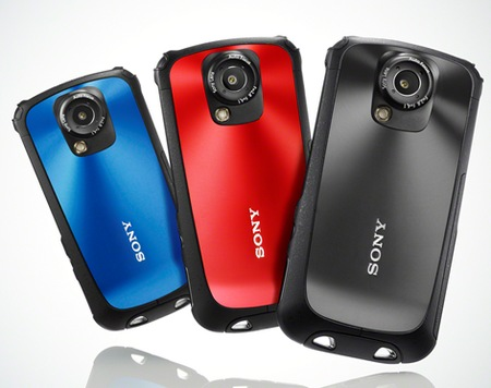 Sony Bloggie Sport HD Rugged 1080p Camcorder colors
