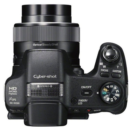 Sony Cyber-shot DSC-HX200V 30X Long Zoom Camera with GPS top