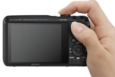 Sony Cyber-shot DSC-HX30V 20x optical zoom on hand