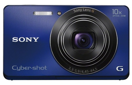Sony Cyber-shot DSC-W690 Thinnest 10x Optical Zoom Camera blue
