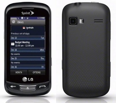 Sprint LG Rumor Reflex QWERTY Messaging Phone front back
