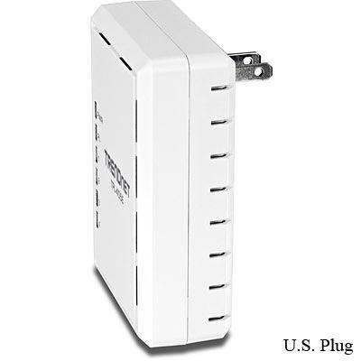 TRENDnet TPL-405E 500Mbps Powerline AV Adapter with 4 Gigabit LAN Ports us plug