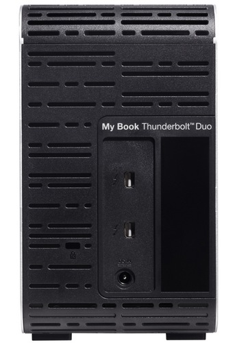 Western Digital My Book Thunderbolt Duo Dual-Drive Storage System back