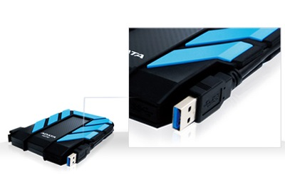 ADATA DashDrive Durable HD710 Rugged USB 3.0 Hard Drive usb cable