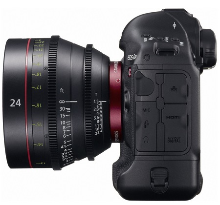 Canon EOS-1D C DSLR Camera with 4K Video Recording side