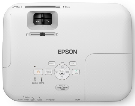 Epson PowerLite Home Cinema 710HD Home Theater Projector top