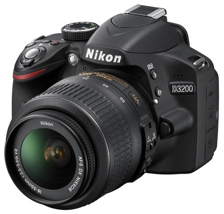 Nikon D3200 Entry-level DSLR Camera angle black