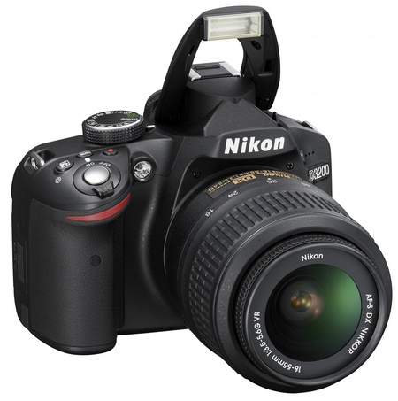 Nikon D3200 Entry-level DSLR Camera flash open