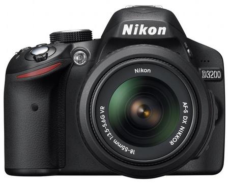 Nikon D3200 Entry-level DSLR Camera front black