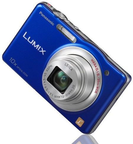 Panasonic LUMIX DMC-SZ1 10x zoom slim camera blue