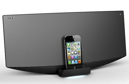 Sony CMT-V75BTiP and CMT-V50iP HiFi System with iPad Dock with iphone