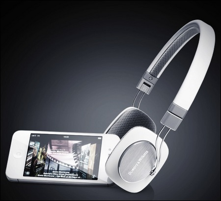 Bowers & Wilkins P3 Mobile HiFi Headphones white