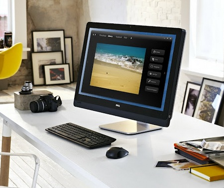 Dell XPS One 27 All-in-One Computer with 2560x1440 Screen in use