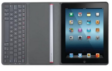 Logitech Solar Keyboard Folio for iPad open