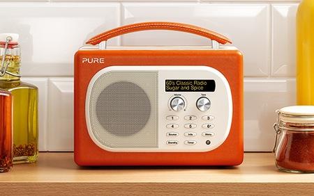 Pure Evoke Mio Digital FM Radio paprika