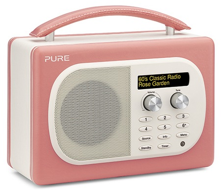 Pure Evoke Mio Digital FM Radio rose