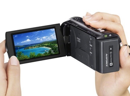 Sony Handycam HDR-CX260V Full HD Camcorder on hand