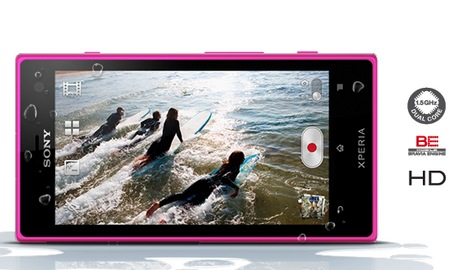 Sony Xperia acro S Waterproof Smartphone pink