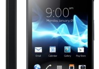 Sony Xperia go Smartphone with IP67 Dust and Water Resistance black front
