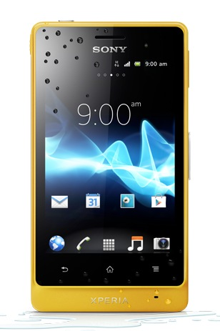 Sony Xperia go Smartphone with IP67 Dust and Water Resistance yellow