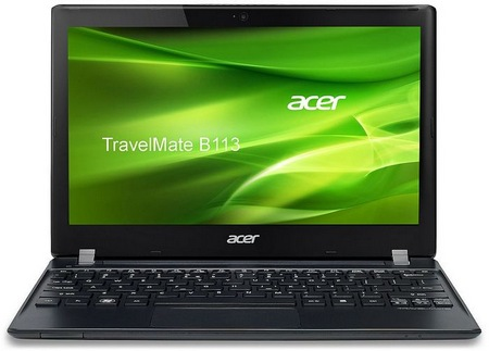 Acer TravelMate B113 11.6-inch Ultraportable with Sandby Bridge front
