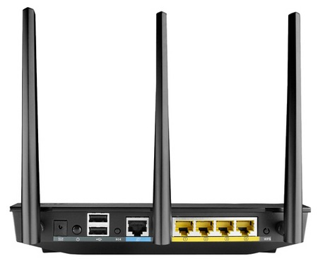 Asus RT-AC66U 802.11ac Dual-Band Router back