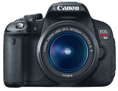Canon EOS Rebel T4i 650D Digital SLR Camera with EF-S 18-55MM