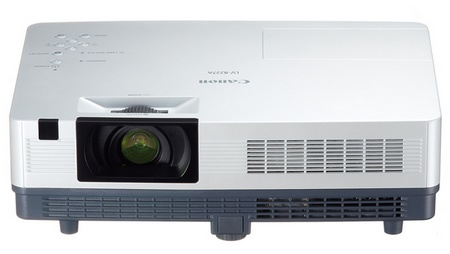 Canon LV-8227A, LV-7392A, LV-7297M, and LV-7292M Affordable Portable LCD Projectors front