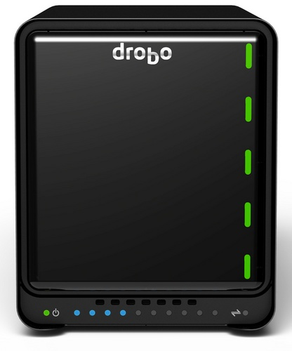 Drobo 5D Storage Device with USB 3.0 and Thunderbolt front